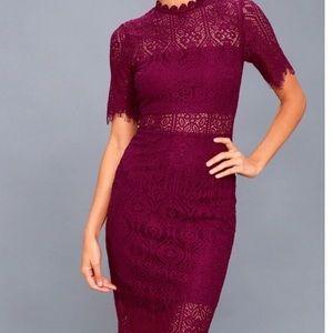 Lace Bodycon midi dress.